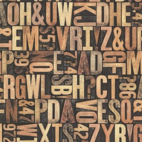 Letterpress Sand Typography Wallpaper