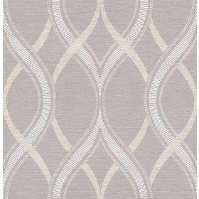 Frequency Lavender Ogee Wallpaper