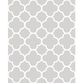 Origin Grey Quatrefoil Wallpaper