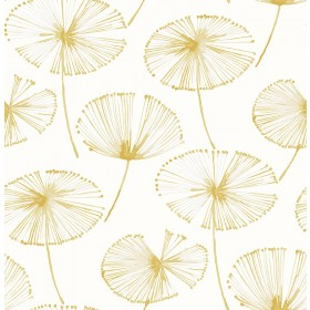 Paradise Gold Fronds Wallpaper