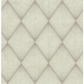 Enlightenment  Light Grey Diamond Geometric Wallpaper