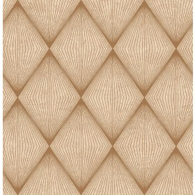 Enlightenment  Brown Diamond Geometric Wallpaper