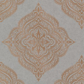 Capella Copper Medallion Wallpaper