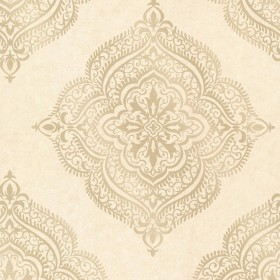 Capella Beige Medallion Wallpaper