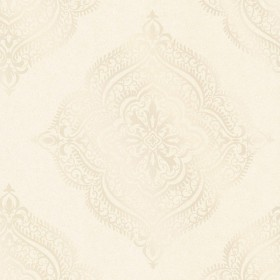 Capella Champagne Medallion Wallpaper