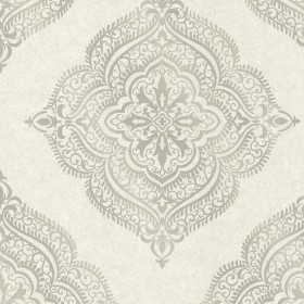 Capella Fog Medallion Wallpaper