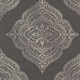 Capella Charcoal Medallion Wallpaper
