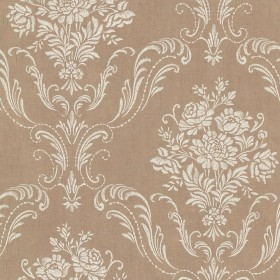 Manor Copper Floral Damask Wallpaper
