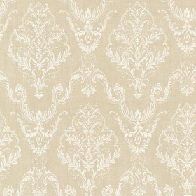Wiley Beige Lace Damask Wallpaper