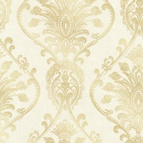 Noble Cream Ornate Damask Wallpaper