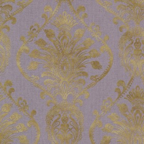 Noble Purple Ornate Damask Wallpaper