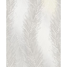 Essence Wheaton Silver Leaf Wave Wallpaper