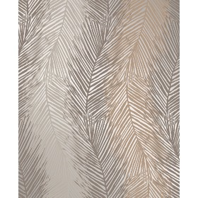 Essence Wheaton Bronze Leaf Wave Wallpaper