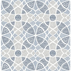 2764-24335 Zazen Blue Geometric Wallpaper