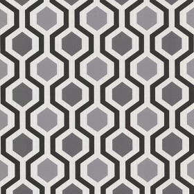 Kelso Black Geometric Wallpaper