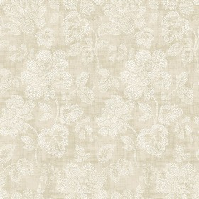 2766-22737 Tansy Neutral Floral Scroll Wallpaper
