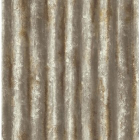 2767-22334 Alloy Brass Corrugated Metal Wallpaper