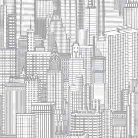 Aston Silver City Wallpaper
