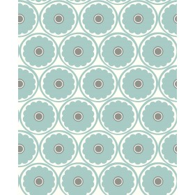 Buttercup Turquoise Flower Wallpaper