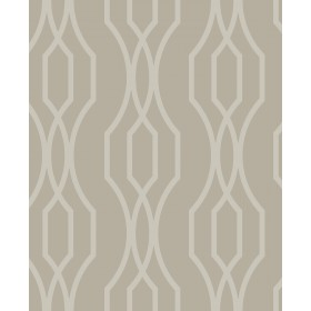 Coventry Taupe Trellis Wallpaper