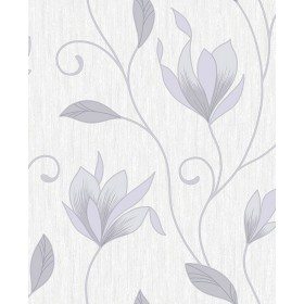 2814-M0852 Gallagher Ivory Floral Trail Wallpaper