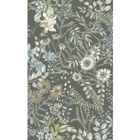 2821-12905 Full Bloom Taupe Floral Wallpaper