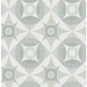 2821-25135 Ellis Sage Geometric Wallpaper