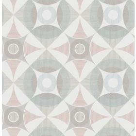 2821-25136 Ellis Multicolor Geometric Wallpaper