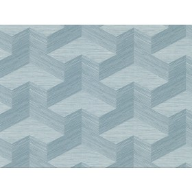 2829-82063 Y Knot Turquoise Geometric Texture Wallpaper