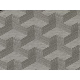 2829-82067 Y Knot Grey Geometric Texture Wallpaper