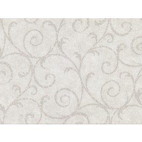 2830-2734 Sansa Light Grey Plaster Scroll Wallpaper