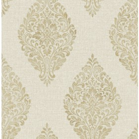 2834-25043 Pascale Gold Medallion Wallpaper