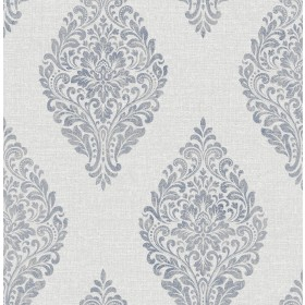2834-25044 Pascale Light Grey Medallion Wallpaper