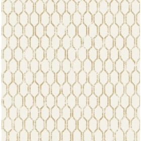 2834-25046 Elodie Gold Geometric Wallpaper