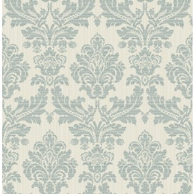 2834-25061 Piers Teal Texture Damask Wallpaper