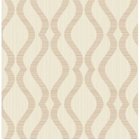 2834-25065 Yves Rose Gold Ogee Wallpaper