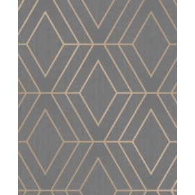 2834-42352 Adaline Taupe Geometric Wallpaper