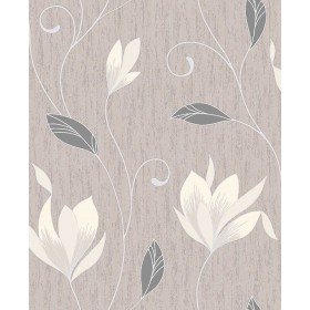 2834-M0782 Anais Neutral Floral Trails Wallpaper