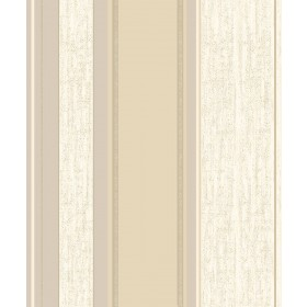 2834-M0869 Mirabelle Cream Stripe Wallpaper