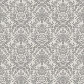 2834-M1388 Bernadette Cream Damask Wallpaper