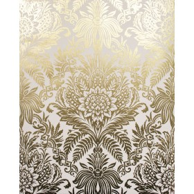 2834-M1395 Bernadette Gold Damask Wallpaper