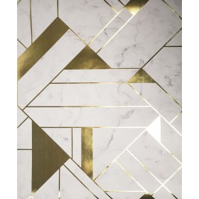 2834-M1468 Gulliver Off-white Marble Geometric Wallpaper