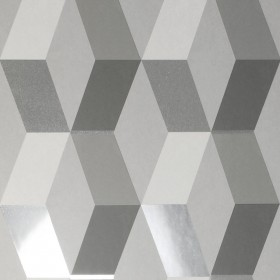 2834-M1470 Rochelle Grey Geometric Wallpaper