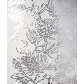 2834-M1473 Marquis Grey Floral Wallpaper