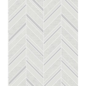2835-42415 Punta Mita Ivory Chevron Wallpaper
