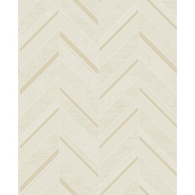 2835-42417 Punta Mita Cream Chevron Wallpaper