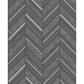 2835-42418 Punta Mita Charcoal Chevron Wallpaper