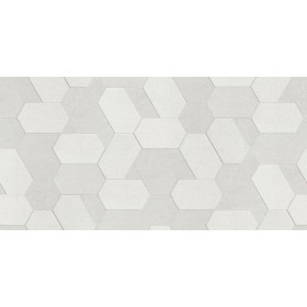 2835-C88609 Plaza Ivory Geometric Wallpaper