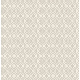2836-22022 Puck Light Brown Geometric Wallpaper