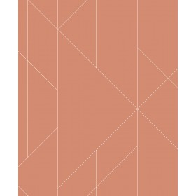 2889-25201 Torpa Coral Geometric Wallpaper